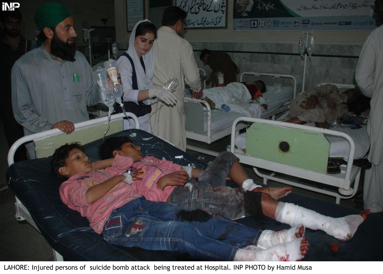 واہگہ بارڈر کے قریب خود کش دھماکہ' رینجرزاہلکاروں سمیت60 جاں بحق '80سے زائد زخمی