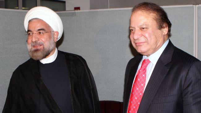 PM. Muhammad Nawaz Sharif meets President of Iran Dr. Hassan Rouhani
