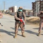 کراچی: متاثرہ یوسیز کے  مختلف مقامات ٹرک اور کنٹینرز سے بند کر دیئے گئے