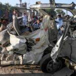 اوتھل ، ٹریفک حادثہ، 15 مسافر جاں بحق ، 10 زخمی
