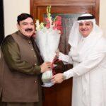 شیخ رشید سے سعودی سفیر کی ملاقات، دوطرفہ تعلقات پر تبادلہ خیال