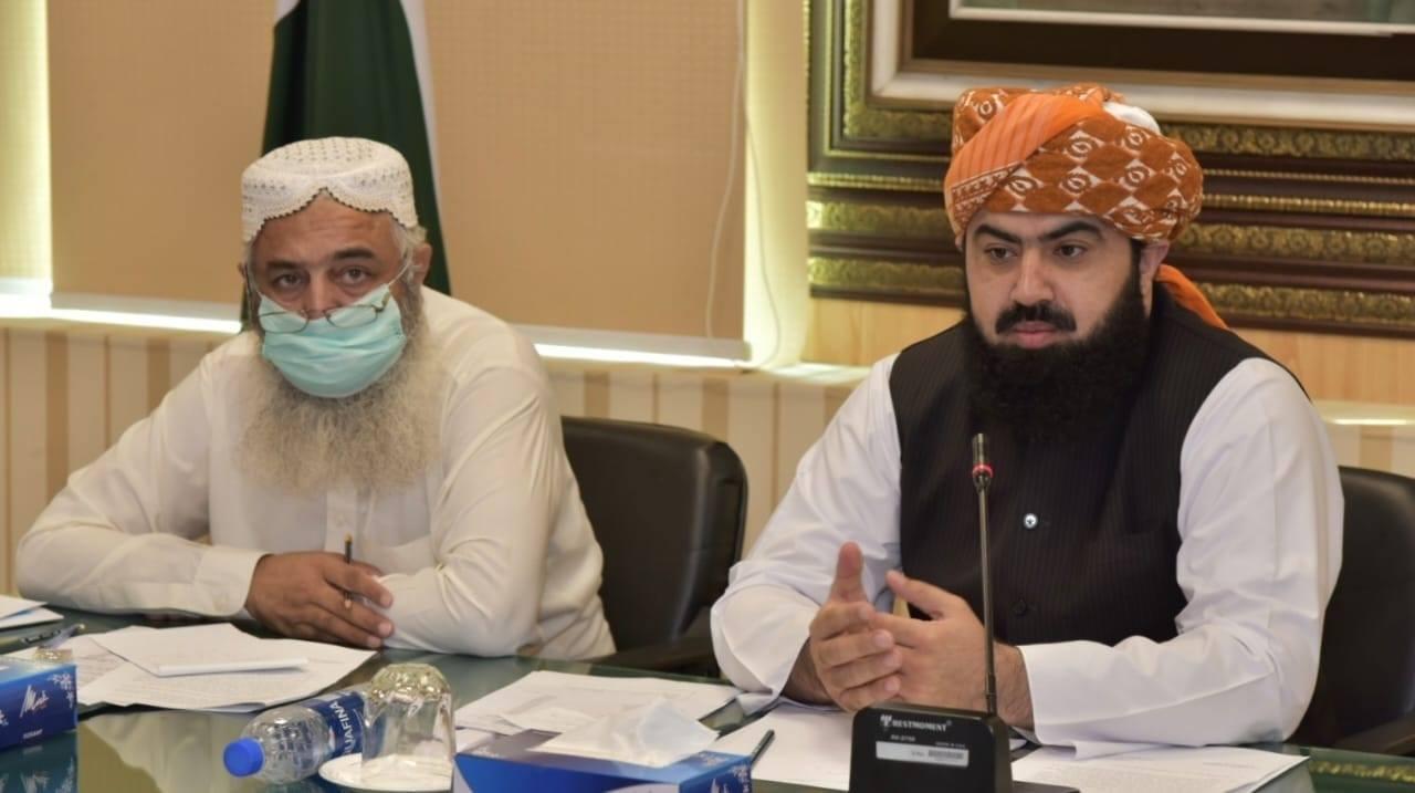 قومی اسمبلی کی مجلس قائمہ برائے مذہبی امور کا متعلقہ وزارت کے کمیٹی روم میں اجلاس