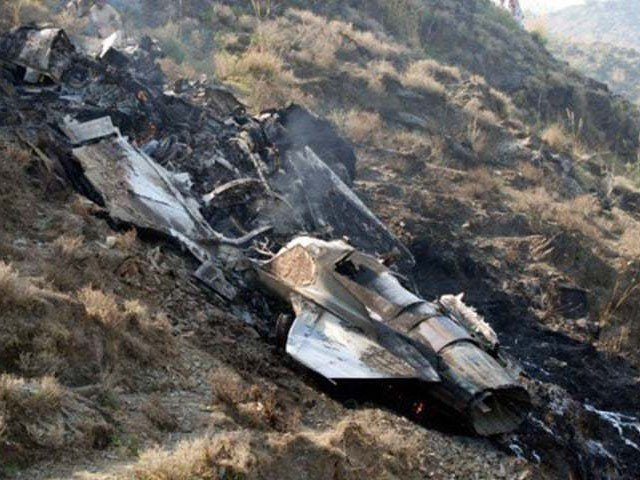 پاک فضائیہ کا طیارہ پنڈی گھیب کے قریب گر کر تباہ