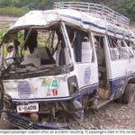اسکردومیں مسافر کوسٹر پر پہاڑی تودہ گرنے سے 16 افراد جاں بحق،5زخمی