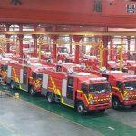 کراچی کے لیے 50 آگ بجھانے والی گاڑیاں چین سے روانہ