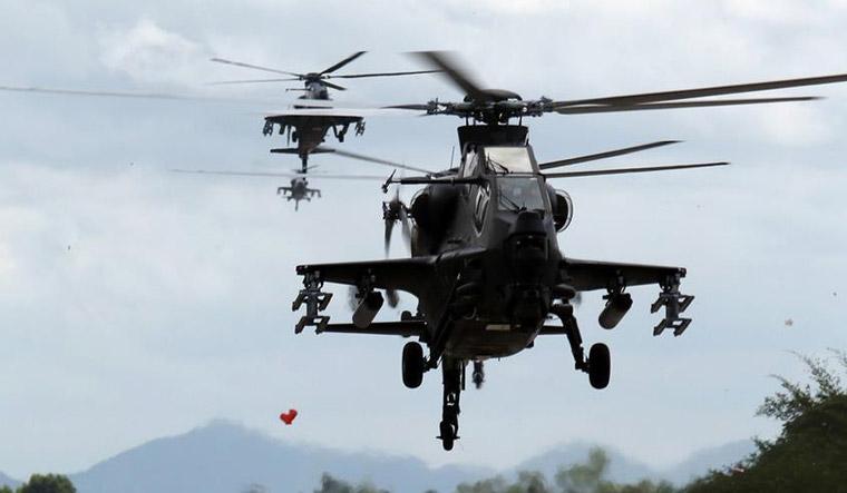 مقبو  کشمیر مجاہدین کے خلاف ایک بڑے آپریشن میں گن شپ ہیلی کاپٹروں کا استعمال