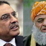 آصف زرداری اور مولانا فضل الرحمان کے درمیان ٹیلی فونک رابطہ