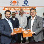 کسانوں کی مالی مدد کے ڈیری فنانسنگ پراجیکٹ کے لئے دی بینک آف پنجاب اورفوجی فوڈز لمیٹڈکے درمیان معاہدہ