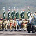 یوم پاکستان کے حوالے سے شکر پڑیاں گراؤنڈ اسلام آباد میں مسلح افواج کی مشترکہ پریڈ