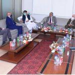 اتصالات گروپ کے سی ای او حاتم د ویدار نے  سید امین الحق سے  ملاقات کی