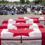 کینیڈا 'ٹرک حملے میں جاں بحق پاکستانی نژاد خاندان کے 4افراد سپردِ خاک