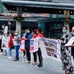 یوم شہدائے کشمیر کے موقع پر نیویارک ٹائمز سکوائر میں بھارت کے خلاف زبردست احتجاجی مظاہرہ